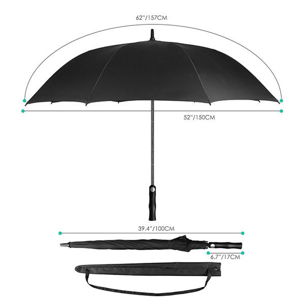 Branded Golf Umbrella Size