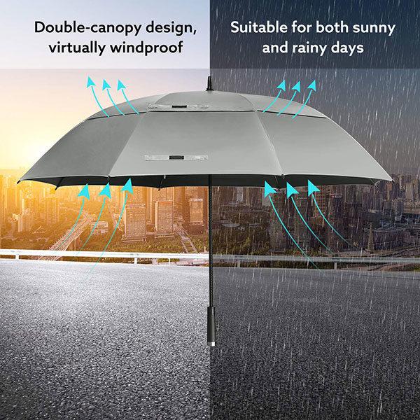 ir Vented Windproof Golf Umbrella