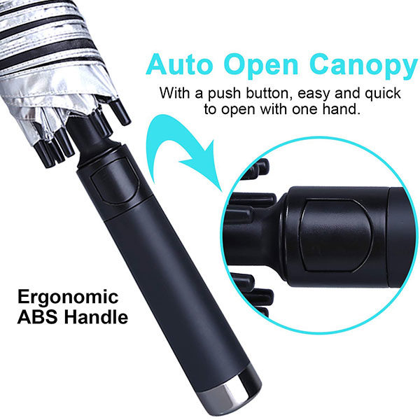 One Button Easy Open Windproof Golf Umbrella