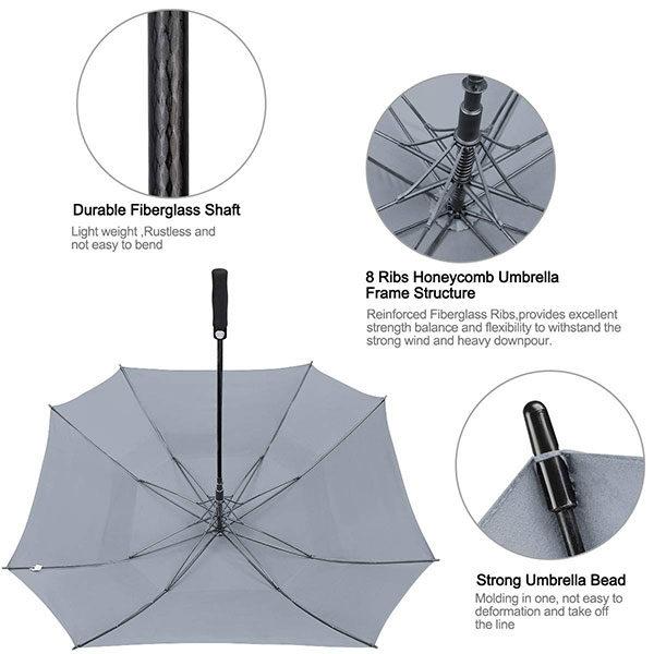 Reinforced Fiberglass Golf Umbrella Branded