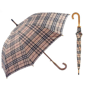 Straight Wooden Handle Umbrella