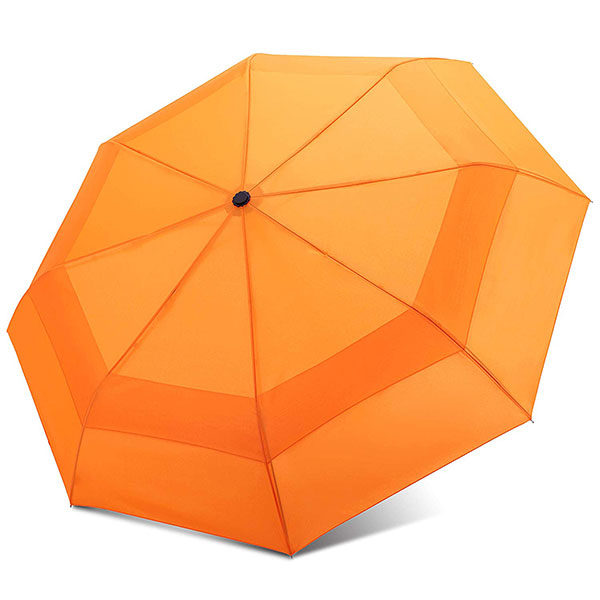 Windproof Travel Umbrella with Double Canopy