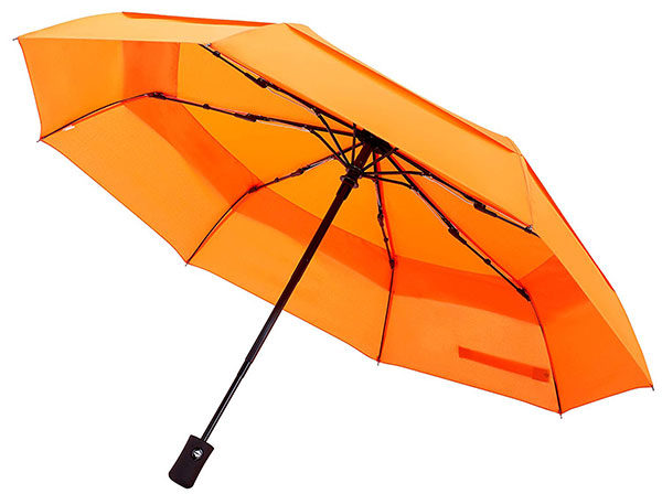 Double Layer Canopy Travel Umbrella with Double Canopy