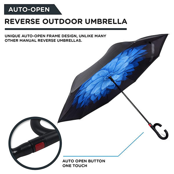 Customize Full Color Print Inverted Umbrella