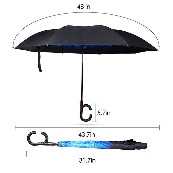Full Color Print Umbrella Size