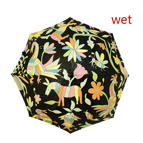 Color Change Umbrella When Wet