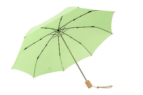 Customise Colorful Compact Wooden Handle Umbrella
