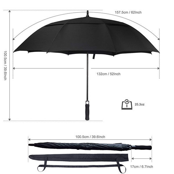 Branded Budget Umbrella Size