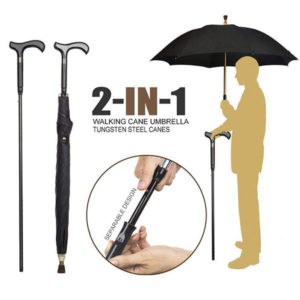 2-IN-1 Walking Stick Umbrella