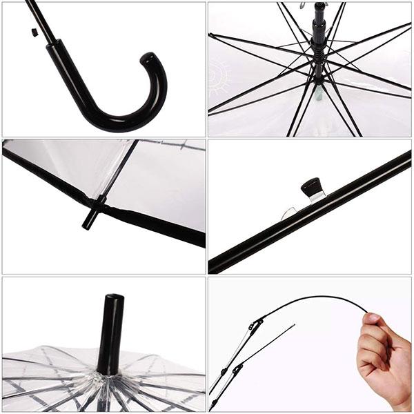 Custom Windproof Clear Umbrella