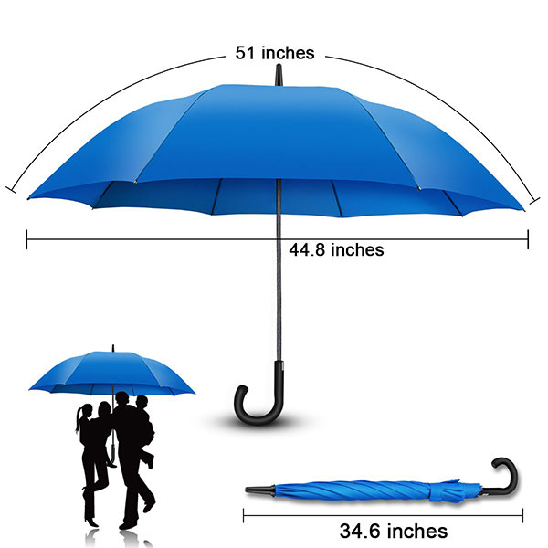 25 Inch Windproof Walking Umbrella