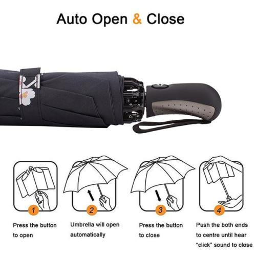 Auto Open Close Customize Digital Print Umbrella