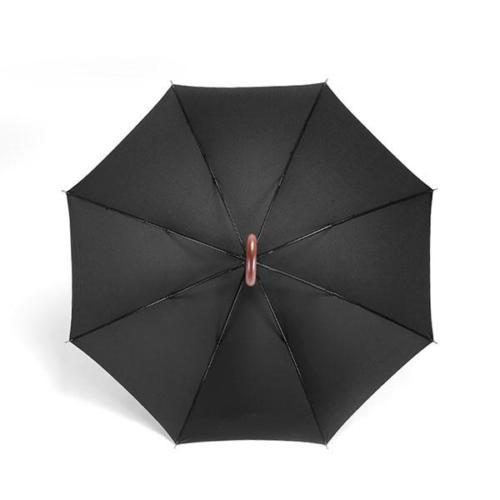 Logo Print Wooden Handle Hotel Umbrella