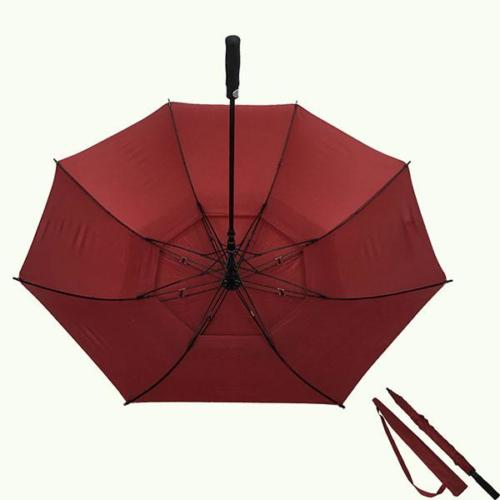 Golf Umbrella Double Canopy Hotel Logo Print