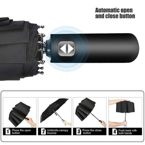 Automatic Windproof Travel Umbrella
