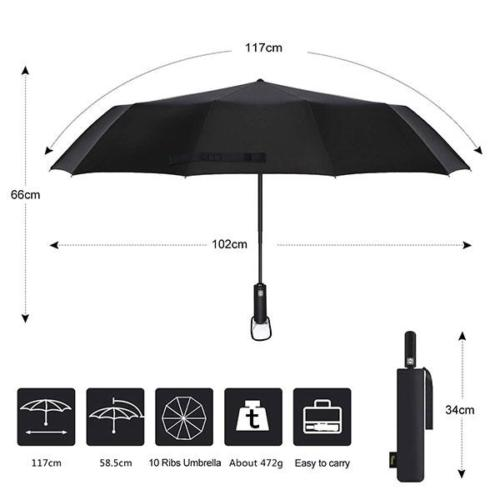 Windproof Travel Umbrella Size