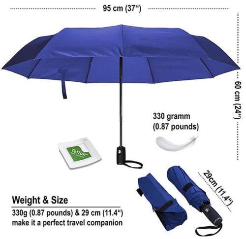 Compact Travel Umbrella Size