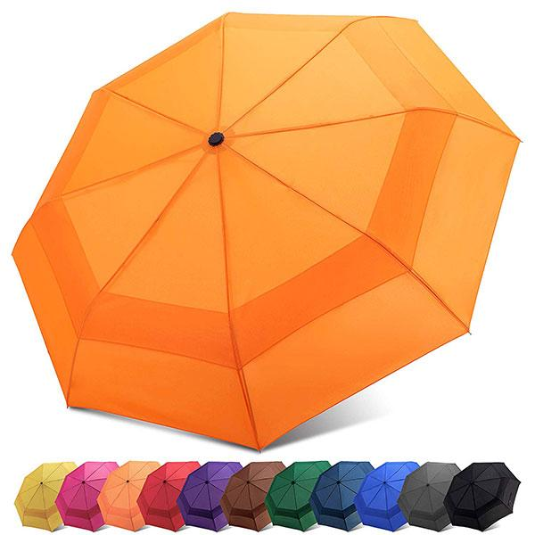 Travel Umbrella with Double Canopy