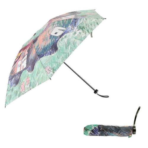 Telescopic umbrella with strap