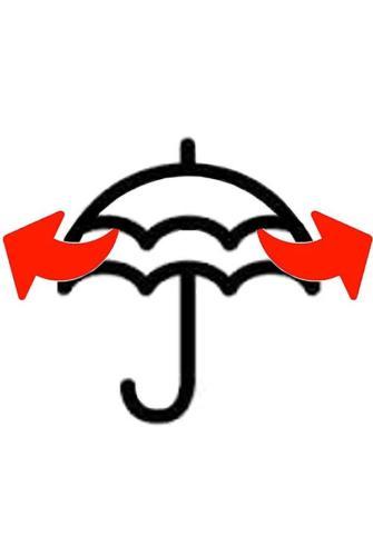 Double Layer Windproof Wooden Handle Umbrella