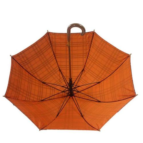 Elegant British Style Straight Wooden Handle Umbrella