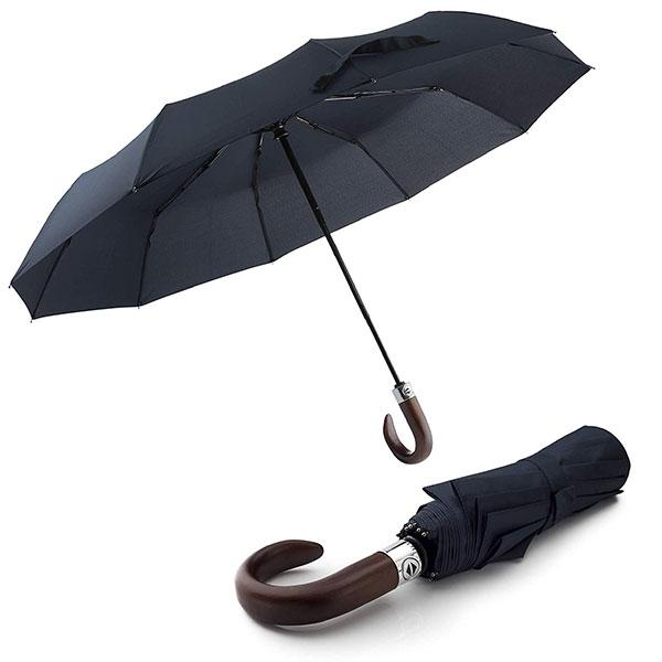 Automatic Wooden Crook Handle Umbrella