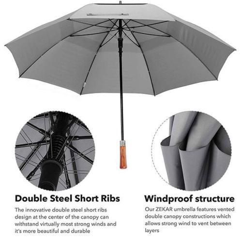 Windproof Wooden Handle Umbrella