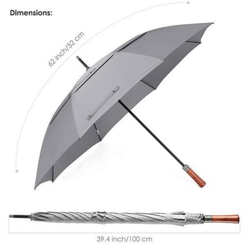 Wooden Handle Umbrella Size