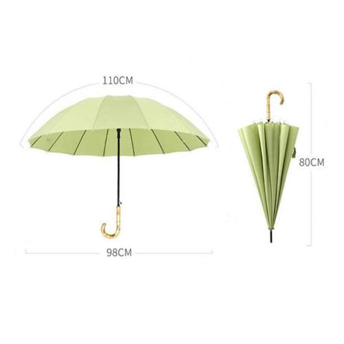 Bamboo Umbrella Handle Size