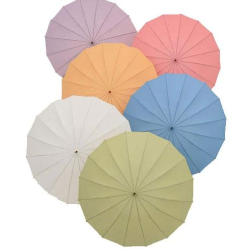 Full Colors Option Bamboo Umbrella Handle