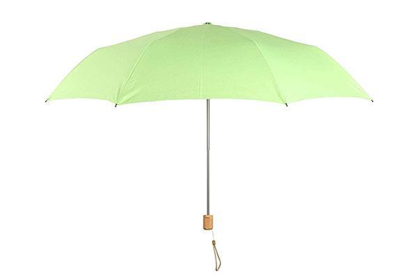 Compact Wooden Handle Umbrella